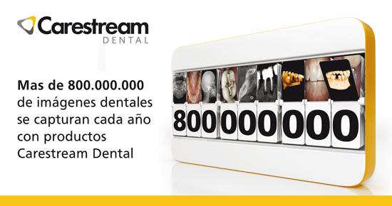 Más de 800.000.000 de imágenes dentales se capturan cada año con productos Carestream Dental
