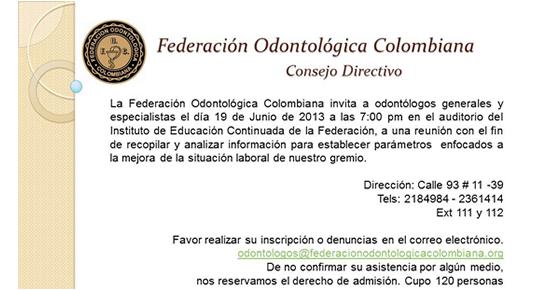 Consejo Directivo Federación Odontológica Colombiana